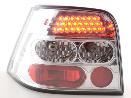 LED Rückleuchten Heckleuchten Set VW Golf 4 1J  1998 - 2002 chrom