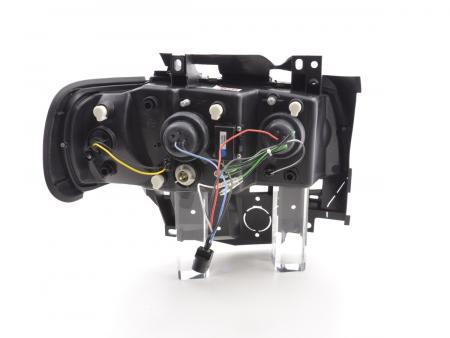 96-03 chrom für Scheinwerfer Set Daylight LED TFL-Optik VW Bus Typ T4 Bj