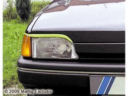 MATTIG Scheinwerferblenden für Ford Fiesta, Bj. 1988-1994