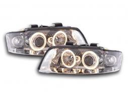 fari Angel Eyes Audi A4 tipo 8E anno di costruzione 01-04 cromato