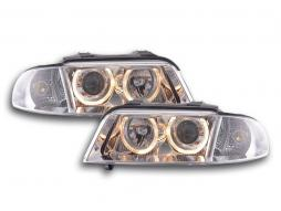 faro Angel Eyes Audi A4 tipo B5 anno di costr. 99-01 cromato