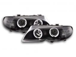 Scheinwerfer Set BMW 3er E46 Limo/Touring Bj. 02-05 schwarz für Rechtslenker