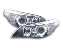 Scheinwerfer gebraucht Angel Eyes LED BMW 5er E60/E61 Bj. 2003-2006 schwarz