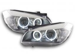 Scheinwerfer Angel Eyes LED BMW X1 E84 Bj. 09-12 schwarz