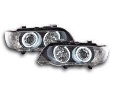 Scheinwerfer Angel Eyes LED BMW X5 E53 Bj. 00-03 schwarz