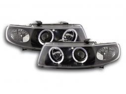 Scheinwerfer Set Seat Leon/Toledo Typ 1M Bj. 97-05 schwarz