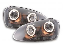 faro Angel Eyes VW Golf 5 tipo 1K anno di costr. 03-08 nero
