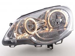 Scheinwerfer Angel Eyes Set gebraucht für VW Polo Typ 9N2 Bj. 05-09 chrom