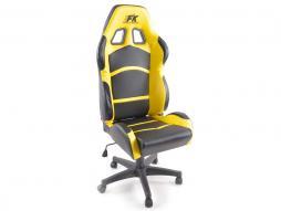 FK Sportsitz Bürodrehstuhl Cyberstar schwarz/gelb Chefsessel Drehstuhl Bürostuhl
