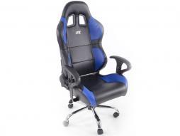 FK Sportsitz Bürodrehstuhl Phoenix schwarz/blau Chefsessel Drehstuhl Bürostuhl