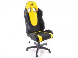 sedia per ufficio Racecar nero/giallo