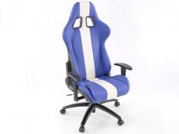 FK Sportsitz Bürodrehstuhl Austin blau/weiß Chefsessel Drehstuhl Bürostuhl