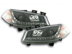 Scheinwerfer Set Daylight LED TFL-Optik Renault Megane 2 3/5-trg. Bj. 03-06 schwarz