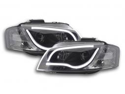 Scheinwerfer Set Daylight LED TFL-Optik Audi A3 Typ 8P/8PA Bj. 03-08 schwarz