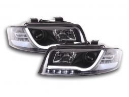 faro Daylight coppia con luci di marcia diurna Audi A4 tipo 8E anno di costr. 01-04 nero