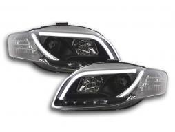 Scheinwerfer Set Daylight LED TFL-Optik Audi A4 Typ 8E Bj. 04-08 schwarz