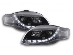 Scheinwerfer Set Daylight LED Tagfahrlicht Audi A4 Typ 8E Bj. 04-08 schwarz