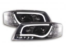 Scheinwerfer Daylight Set mit Tagfahrlicht Audi A6 Typ 4B Bj. 97-01 schwarz