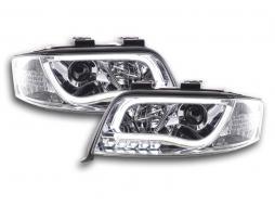 Scheinwerfer Set Daylight LED Tagfahrlicht Audi A6 Typ 4B Bj. 01-04 chrom