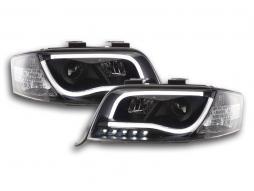 Scheinwerfer Daylight Set mit Tagfahrlicht Audi A6 Typ 4B Bj. 01-04 schwarz