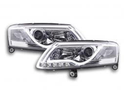 Scheinwerfer Set Daylight LED TFL-Optik Audi A6 Typ 4F Bj. 04-08 chrom