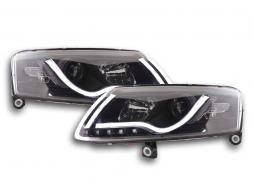 Scheinwerfer Daylight Set Audi A6 Typ 4F Bj. 04-08 schwarz
