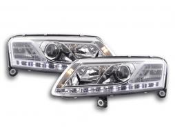 Scheinwerfer Daylight Audi A6 Typ 4F Bj. 04-08 chrom für Rechtslenker
