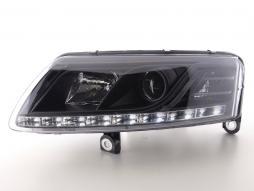 Tagfahrlicht Xenon Scheinwerfer gebraucht Daylight Audi A6 Typ 4F Bj. 04-08 schwarz