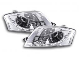 Scheinwerfer Daylight Set gebraucht Tagfahrlicht Audi TT Typ 8N Bj. 98-06 chrom