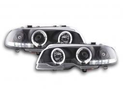 Scheinwerfer BMW 3er E46 Coupe/Cabrio Bj. 98-02 schwarz