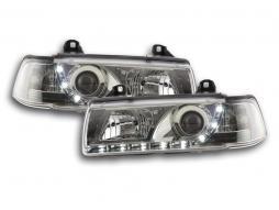 Tagfahrlicht Scheinwerfer Daylight BMW 3er E36 Limousine Bj. 92-98 chrom