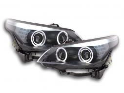 Scheinwerfer Set Xenon Angel Eyes LED BMW 5er E60/E61 Bj. 03-04 schwarz