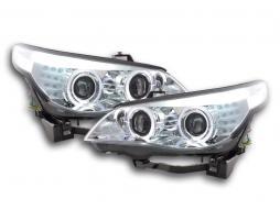 Scheinwerfer Angel Eyes LED Xenon BMW 5er E60/E61 Bj. 05-07 chrom