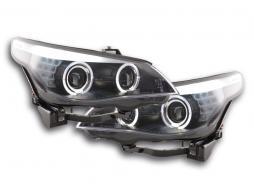 Scheinwerfer Angel Eyes LED Xenon BMW 5er E60/E61 Bj. 05-08 schwarz