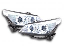 Scheinwerfer Angel Eyes CCFL Xenon BMW 5er E60/E61 Bj. 05-08 chrom
