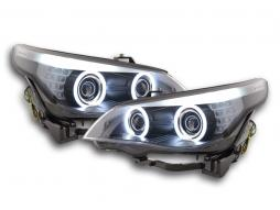 Scheinwerfer Angel Eyes CCFL Xenon BMW 5er E60/E61 Bj. 03-04 schwarz