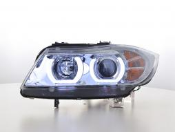 Scheinwerfer Set Daylight LED TFL-Optik BMW 3er E90/E91 Bj. 05-08 chrom