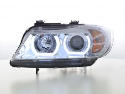 Scheinwerfer Set Xenon Daylight LED TFL-Optik BMW 3er E90/E91 Bj. 05-08 chrom