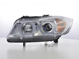 headlights Daylight LED DRL look  BMW serie 3 E90/E91 saloon/station wagon  year 05-08 chrome