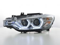 headlights Daylight LED daytime running light  BMW serie 3 F30/F31 saloon/station wagon  year 11-15 chrome