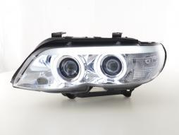Scheinwerfer Daylight gebraucht CCFL Xenon BMW X5 E53 Bj. 03-06 chrom