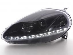 Tagfahrlicht Scheinwerfer Daylight gebraucht Fiat Grande Punto 199 schwarz