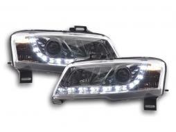 Scheinwerfer Set Daylight LED Tagfahrlicht Fiat Stilo Bj. 01-06 chrom