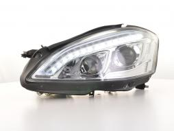Scheinwerfer Set Xenon Daylight LED TFL-Optik Mercedes-Benz S-Klasse (221) Bj. 05-09 chrom