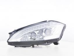 Scheinwerfer Set Daylight LED TFL-Optik Mercedes-Benz S-Klasse (221) Bj. 05-09 chrom