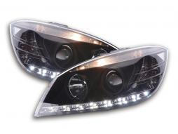 Scheinwerfer Set Daylight LED TFL-Optik Mercedes C-Klasse Typ W204 Bj. 07-10 schwarz