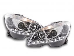 Scheinwerfer Daylight Mercedes C-Klasse W204 Bj. 07-10 chrom
