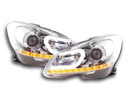 Scheinwerfer Daylight Mercedes C-Klasse W204 Bj. 11-14 chrom
