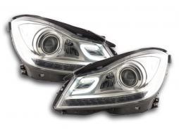 Scheinwerfer Daylight Mercedes C-Klasse (204) Bj. 2011-2014 chrom