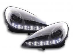 Scheinwerfer Set Daylight LED TFL-Optik Mercedes SLK 171 Bj. 04-11 schwarz